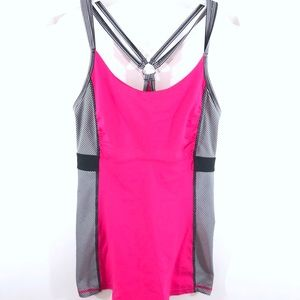 Kyodan Pink Striped Athletic Tank Top Size XS